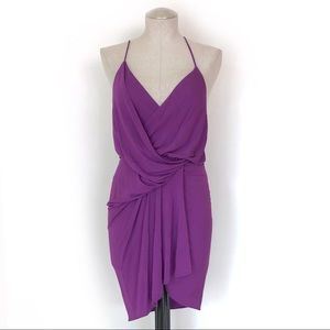 Haute Hippie Purple Drape Slip Dress Size XS
